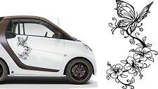 Des autocollants Hibiskus & Papillon 2stk. par 60x30cm Tatouage Audi VW BMW Opel