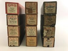Word Roll Lot Of 12 Mixed Player Piano Scrolls QRS