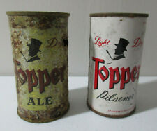 2 Topper Light Dry Flat Top Beer Cans - Ale & Pilsner