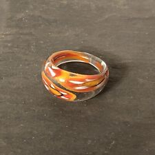 Beautiful Murano Glass Ring, Size O (MISC10-01)