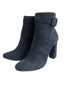 LADIES RAVEL NAVY SMART FAUX SUEDE ANKLE BOOTS UK SZ 7 BNEW