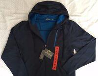 Eddie Bauer Hoodie Mens Boys Full Zip Hooded Jacket Sweatshirt Blue Navy Ascent