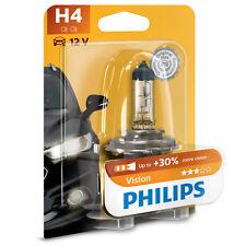 Philips Vision H4 Bombilla Faro Para Coche - 30% Más De Luz! (1 Unidad)