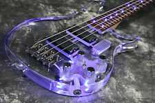 NEw Arrivel Custom Shop 4 Strings LED Light Electric Bass Guitar Actrylic Body