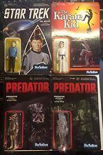 Funko Reaction Figures Lot Predator Clear Star Trek Karate Kid Daniel Dr. McCoy