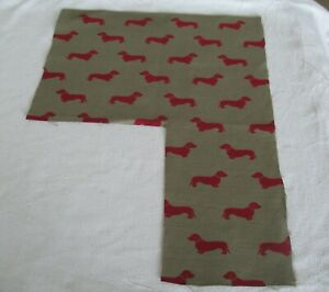 Emily Bond Dachshund Linen Fabric Remnant