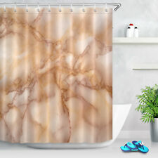 Colorful Slice Marble Generic Shower Curtain Liner Set Waterproof Fabric 12Hooks