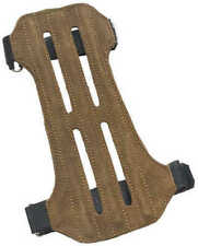 October Mountain Man 2 Strap Ventilated Leather Arm Guard Suede 57365