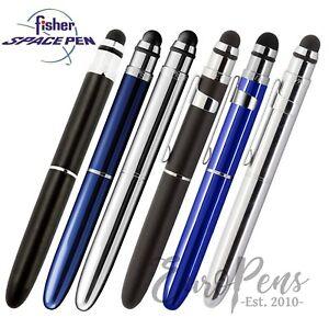 Fisher Space Pen BULLET - DELUXE GRIP Ballpoint Pen + STYLUS for iPhone iPad