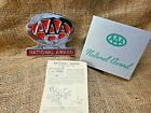Nos Vintage Aaa Award Accessory Bumper Topper Emblem Gm Chevy Buick Ford