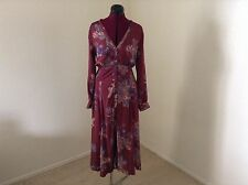 NEW FREE PEOPLE $148 Miranda Printed Midi Dress*Front Slits*Multi*Sz 4