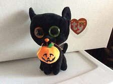 "Ty Beanie Boo SHADOW the Halloween Cat 6"" MWMT"