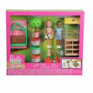 Barbie Sweet Orchard Farm Chelsea & Friend w/ Veggie Garden. Brand New Playset.