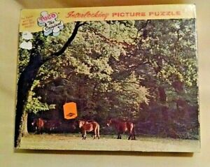 HORSE PUZZLE VINTAGE SEALED 350 TO 400 PC TUCO 5980-H IN NEW FOREST SHADES NOS.