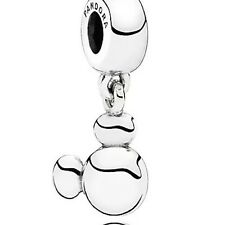 PANDORA DISNEY PARK SOLID MICKEY Dangle Charm Authentic New