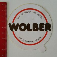 Aufkleber/Sticker: Wolber - Schlauchreifen - Super Champion Felgen (20021735)