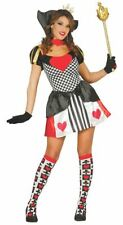Womens Queen Of Hearts Wonderland Fairytale Fancy Dress Costume Ladies Outfit