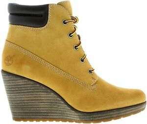 Original Timberland Wheat Shoes Boots Ankle Wedge Meriden Hiker A14QI