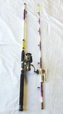 Nite Stick Spinning Catfish Combo Hot Purple 8' 2pc/ 9 BB Bait Runner Reel