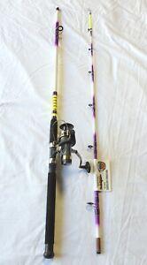 Nite Stick Spinning Catfish Combo Hot Purple 8' 2pc/ 9 BB Bait Runner Reel