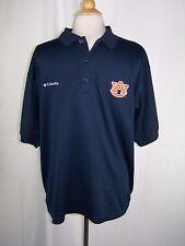 Men's Columbia PFG Auburn Tigers Navy Blue Short Sleeve Polo Shirt Medium