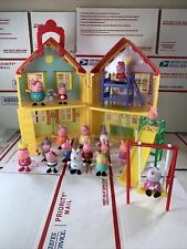 Peppa Pig Toy Lot House With Figures