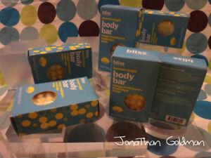 Lot of 2 - Bliss Lemon + Sage Body Mega Moisture Massage Soap Bar 5oz 141g NEW