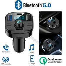 Car Bluetooth 5.0 Wireless FM Transmitter MP3 Radio Adapter USB Charger Car Kit