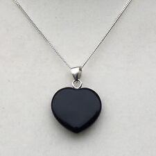 Noir Obsidienne Pendentif En Forme De Cœur-Pendentif Uniquement
