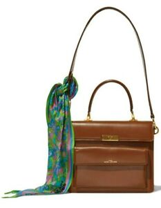 Marc Jacobs Women's The Uptown Leather Satchel Shoulder Bag Handbag Brown