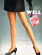PUBLICITE ADVERTISING 085  1984  WELL  bas & collants