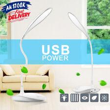 Adjustable LED 3-Level Touch AU Reading Sensor Lamp USB Rechargeable Desk Light