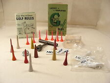 Golf USGA 1946 Rules, Golf Tees, MGIC, Pat Ross, spike & spike wrench Wilson