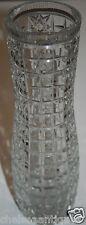 1950s Genuine Antique Russian Glassware USSR/Soviet Union Cut Crystal VASE Clear