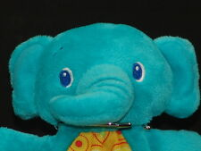 Green Blue Teal Baby Teething Ring Elephant Bright Stars Plush Stuffed Animal