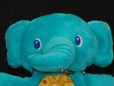 GREEN BLUE TEAL BABY TEETHING RING ELEPHANT BRIGHT STARS PLUSH STUFFED ANIMAL