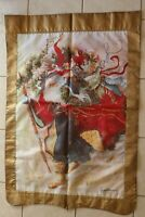 Windswept Santa Decorative House Flag