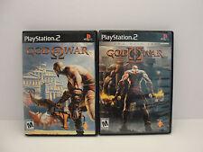 God Of War I 1 and  II 2 PS2  ~ BLACK LABEL