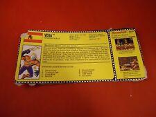 Vega Street Fighter II GI Joe Cutout Gamepro Info Card