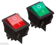 RED ROCKER SWITCH DOUBLE POLE 16A