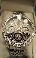 Judith Ripka Stainless Steel Diamonique Multi-Function Watch - Average NIB