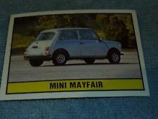 Cromos nº 21 imagen sticker auto 2000 mini Mayfair Panini 1985