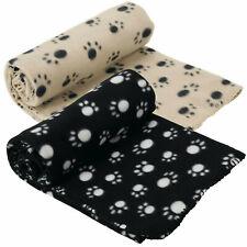 EXTRA LARGE SOFT COSY WARM FLEECE PET DOG CAT ANIMAL BLANKET THROWN 140 x 100CM