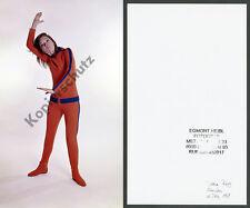 Or. foto a colori di Diana Rigg Emma Peel Avengers Karate Studio Monaco James Bond 1969
