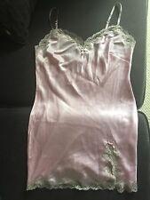 Victorias Secret Pink Satin Lace Nightie Size M