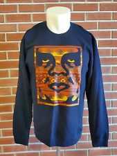 OBEY Long Sleeve Crewneck Sweatshirt Mens Large Cotton Blend EUC LKNW