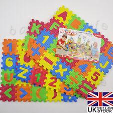 60Pcs Baby Kids Puzzle Toy Alphabet A-Z Letters Numeral Foam Jigsaw Mats
