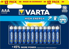 120 x AAA Micro Varta Longlife Power HighEnergy 4903 LR03 1,5V Batterie 12er Box