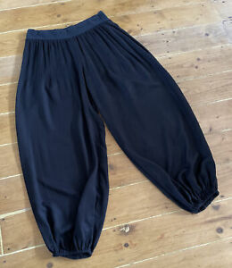NOMADS Fabulous Natural Fair Trade Cotton Black Harem Trousers Size Medium/large