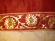 LADIES / GIRLS COTTON SAREE WITH EMBROIDERY/SEQUENCE & GOLD WORK ON BORDER